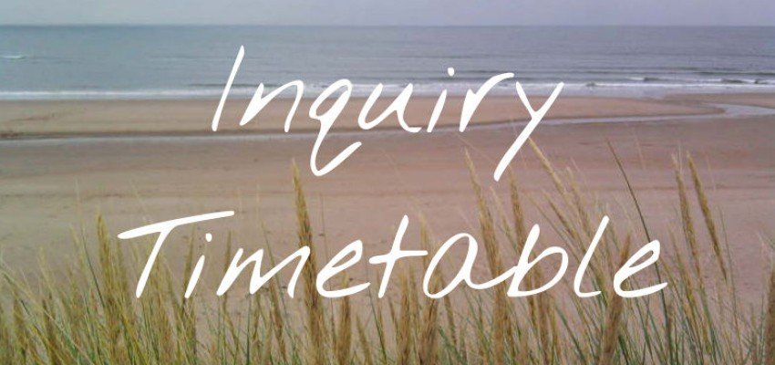 Inquiry Timetable